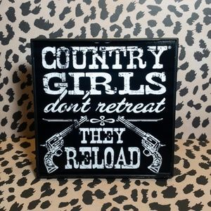 Country Girls Decorative Frame